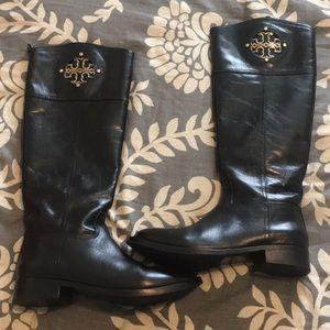 Tory Burch black Kiernan riding boots
